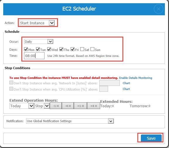 EC2 Daily Scheduler