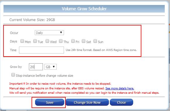 Grow EBS Volume